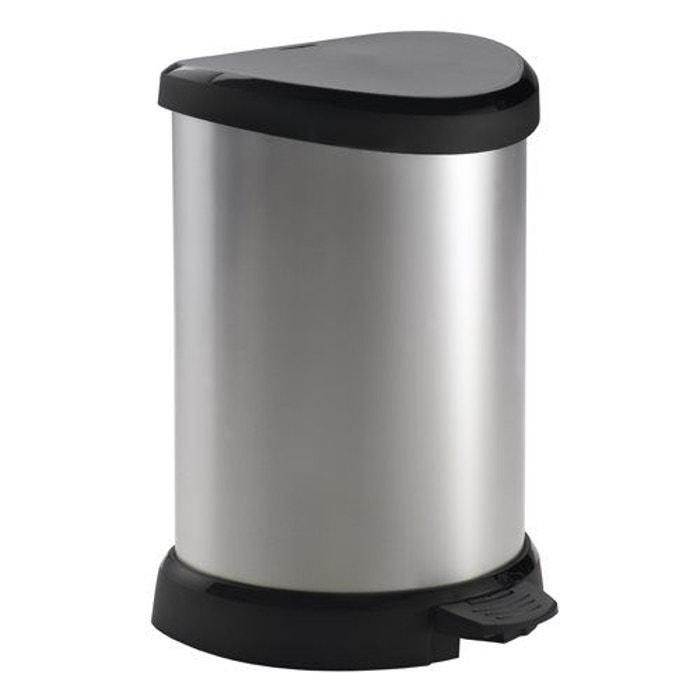 poubelle p dale curver decobin 20 l argent curver la redoute. Black Bedroom Furniture Sets. Home Design Ideas