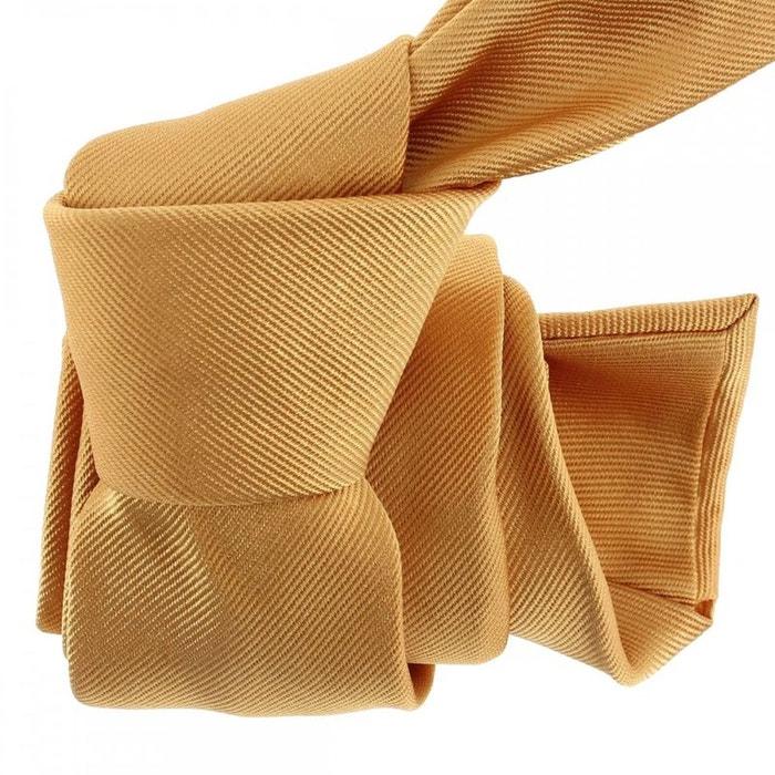 Cravate luxe faite à la main, melone orange Tony Et Paul   La Redoute