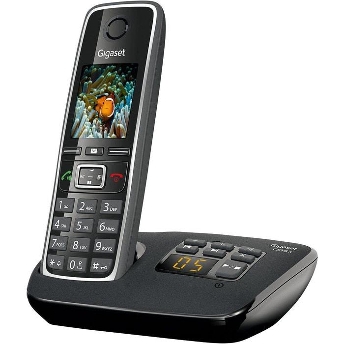 t l phone sans fil gigaset c530a noir gigaset la redoute