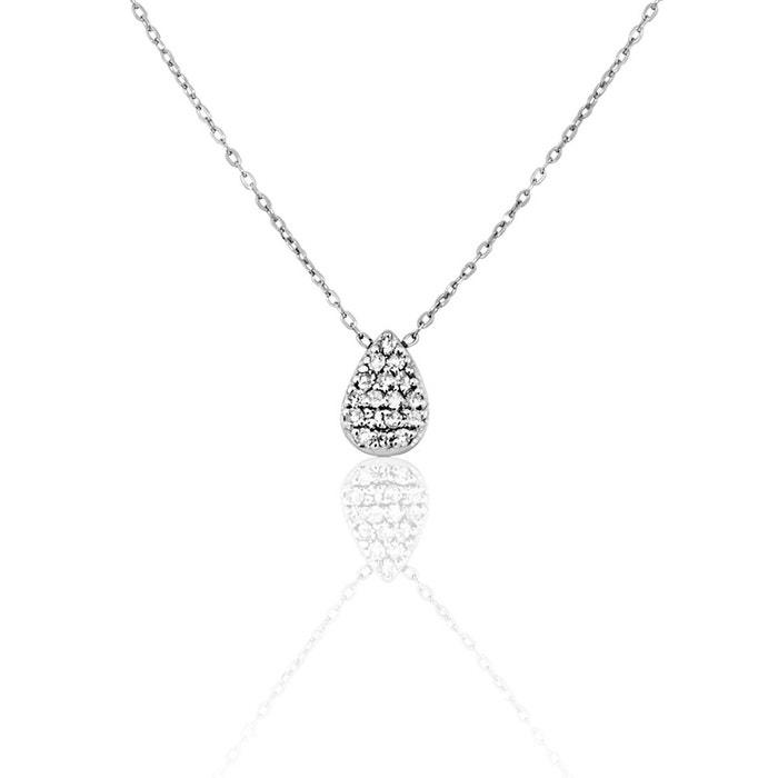Collier or 375/1000 diamant blanc Cleor | La Redoute Acheter Pas Cher Authentiques bsB414nfnQ