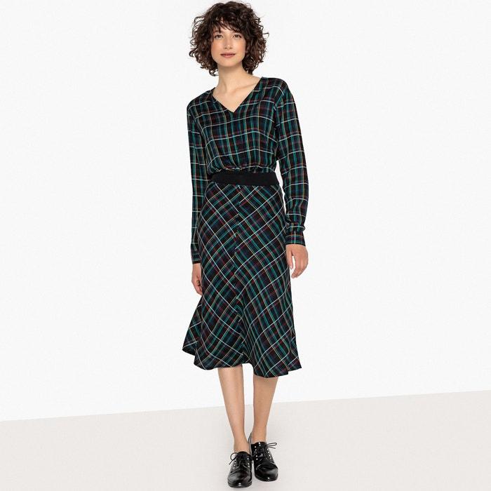 en a La Redoute Vestido Collections midi la cuadros cintura ajustado xaR0AqCwR
