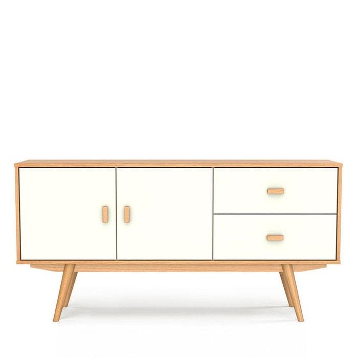 buffet scandinave 2 portes 2 tiroirs maguro blanc drawer la redoute. Black Bedroom Furniture Sets. Home Design Ideas
