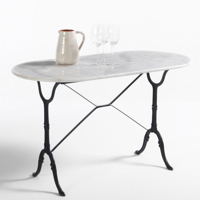 afbeelding Ovalen tuintafel, tafelblad in marmer, Redville La Redoute Interieurs