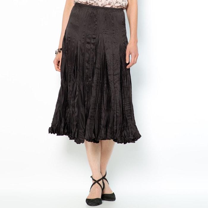 Jupe ample plissée froissée, long. 68 cm ANNE WEYBURN