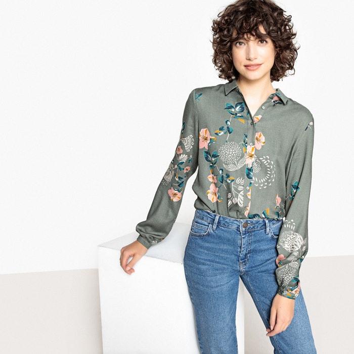 Camisa estampada às flores, mangas compridas  VILA image 0