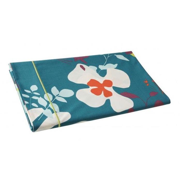 drap plat niki emeraude blanc des vosges la redoute. Black Bedroom Furniture Sets. Home Design Ideas