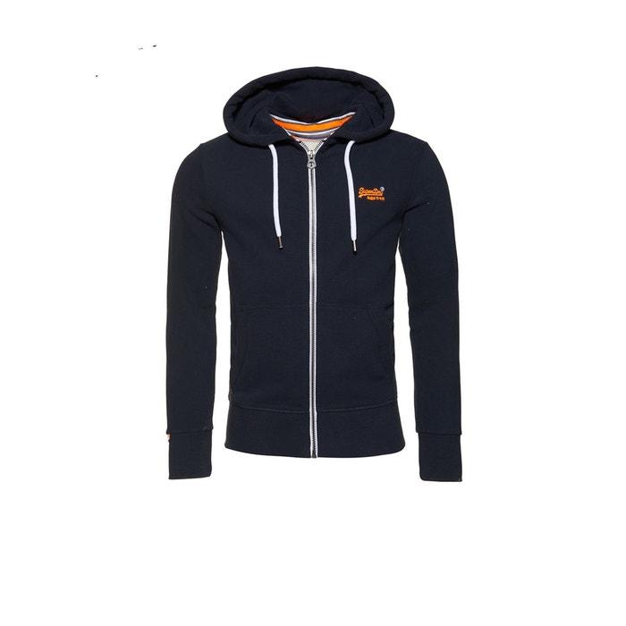 label zippé La à orange lite capuche Superdry Redoute Sweat FSPqTIn