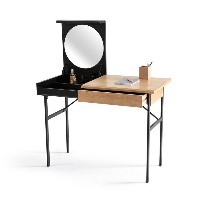 bureau coiffeuse tivara ch ne noir la redoute interieurs la redoute. Black Bedroom Furniture Sets. Home Design Ideas