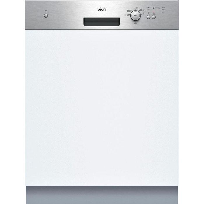 Viva lave vaisselle 60cm 12 couverts a int grable avec for Bandeau inox cuisine