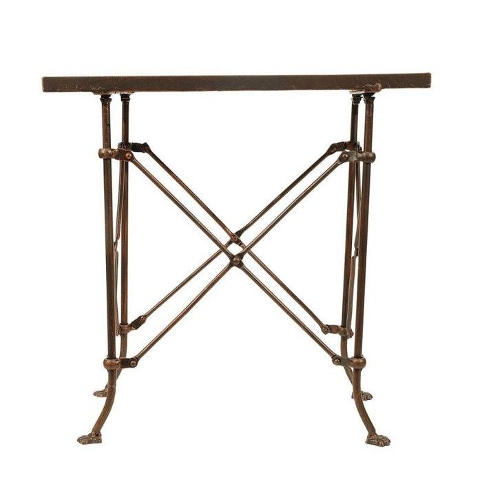 Table basse d\'appoint rétro vintage métal Terrain