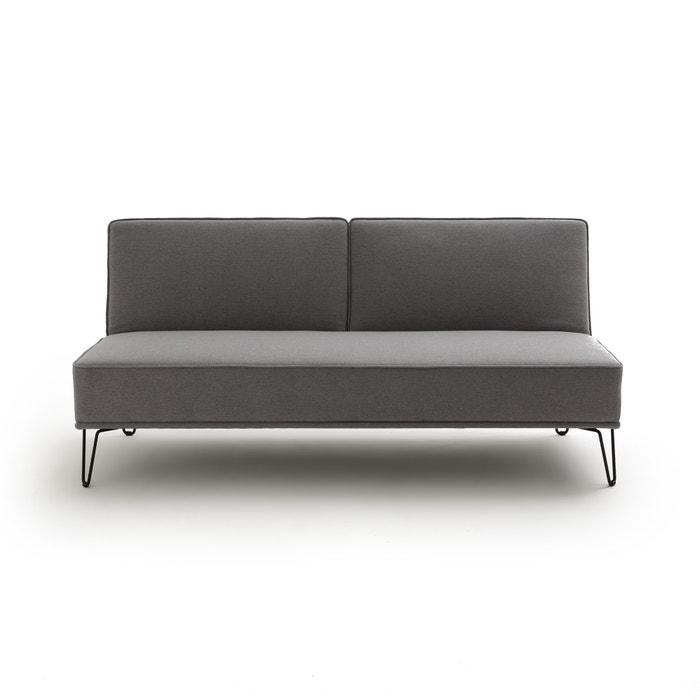 Sof cama em poli ster vees cinzento la redoute for La redoute fundas sofa