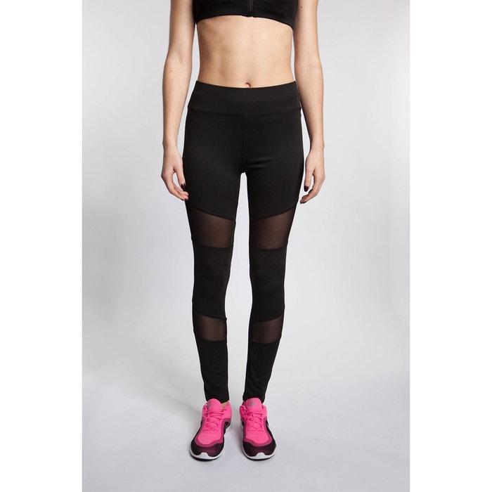 Legging de sport empiècement résille noir Bodyskult  6fcb160ea93