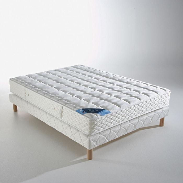 ensemble matelas ressort ensach s sommier blanc reverie la redoute. Black Bedroom Furniture Sets. Home Design Ideas