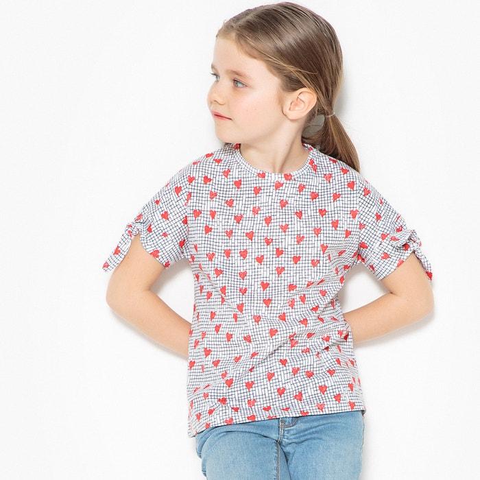 """T-shirt fantasia """"cuore"""" da 3 a 12 anni  La Redoute Collections image 0"""