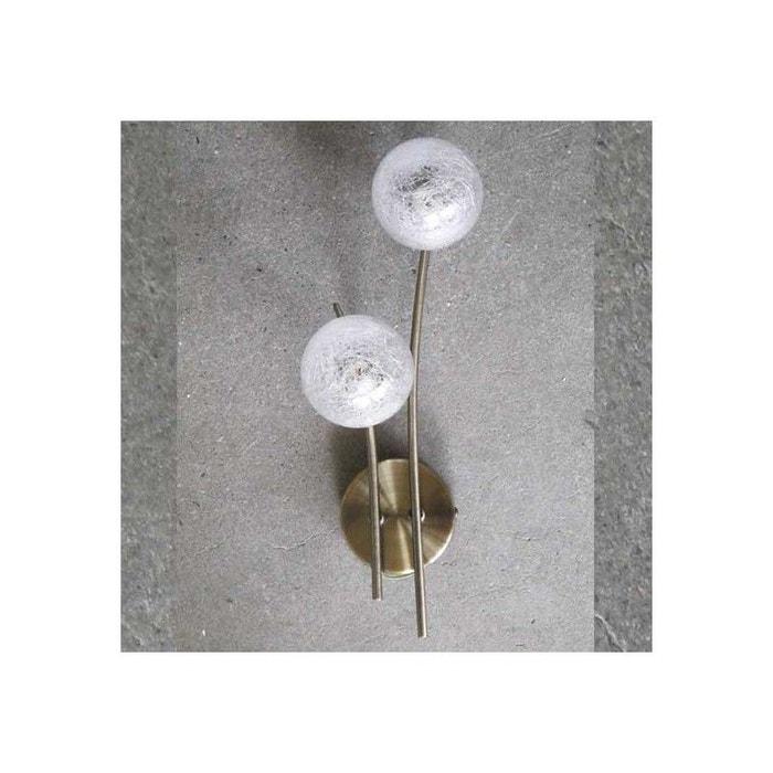 Applique Marine Groovy Laiton Antique 2 Lampes Transparent Millumine