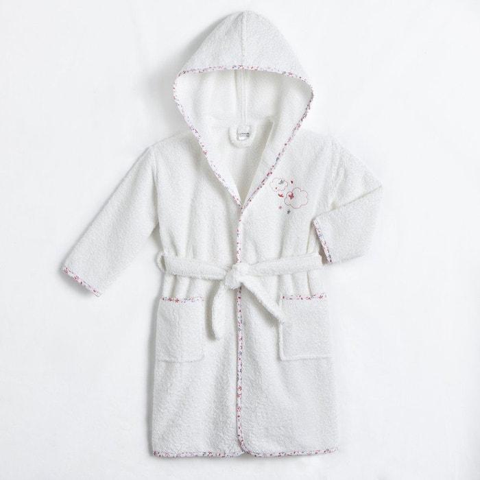 peignoir capuche enfant 400 g m blanc la redoute. Black Bedroom Furniture Sets. Home Design Ideas