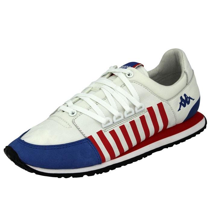 Kappa authentic la84 us one chaussures sneakers unisex cuir blanc bleu rouge blanc Kappa
