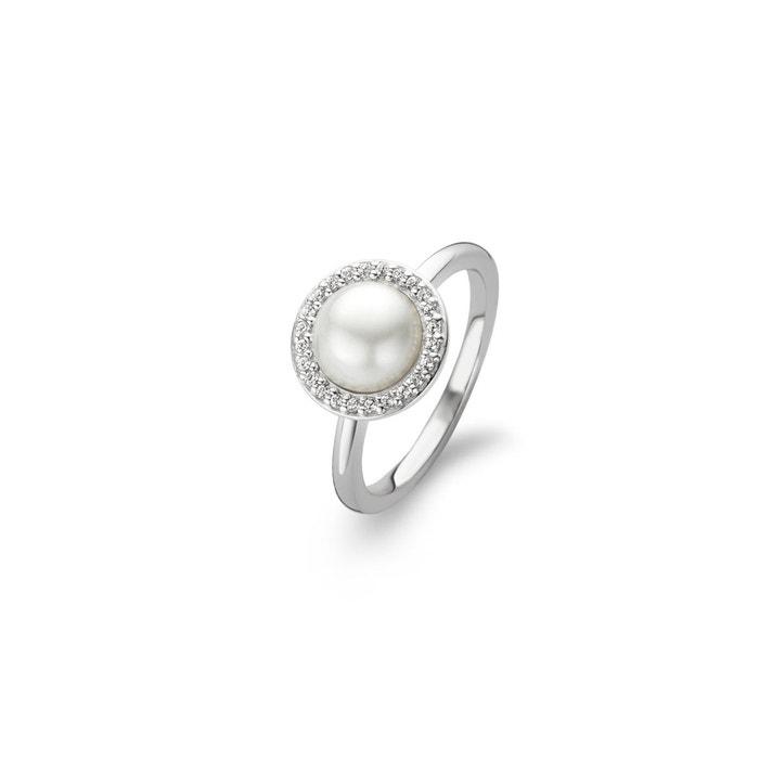 Bague argent 925/1000 perle, oxyde blanc Ti Sento | La Redoute