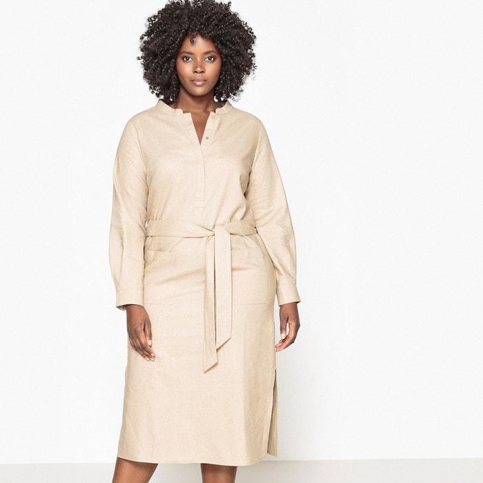 Vestido de lino con cinturón en el talle  CASTALUNA image 0