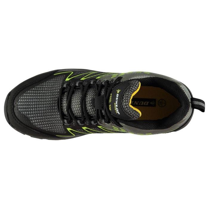 Bottes de sécurité respirant gris charbon/vert Dunlop