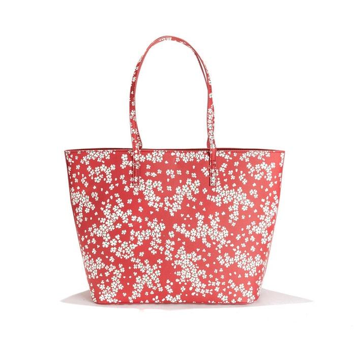 nouvelle arrivee 3a99c 325f9 Sac cabas à fleurs avec pochette zippée amovible