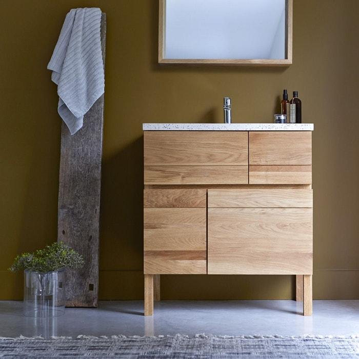 meuble salle de bain en bois de ch ne et r sine 80 easy ch ne tikamoon la redoute. Black Bedroom Furniture Sets. Home Design Ideas