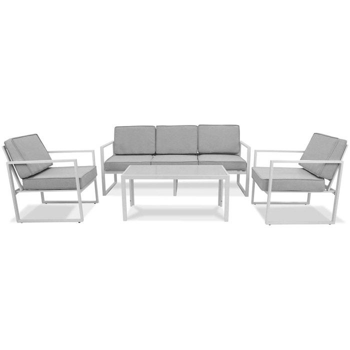 Salon de jardin 5 places en aluminium, deauville Oviala | La Redoute