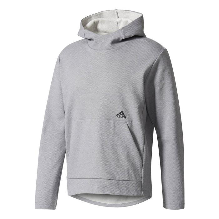 Sweat id champ hoodie gris Adidas   La Redoute 5f58f353fa51