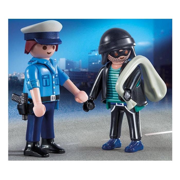 Playmobil 9218 city action playmobil duopack policier et voleur couleur uni - La redoute playmobil ...