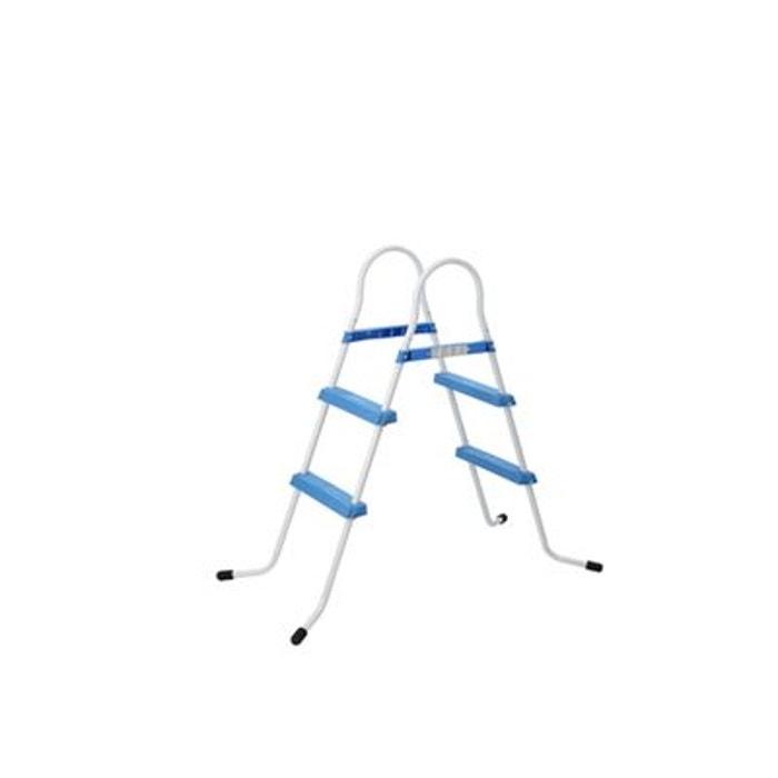 Echelle de piscine hors sol 2 marches bleu h 84 cm couleur for Piscine hors sol la redoute