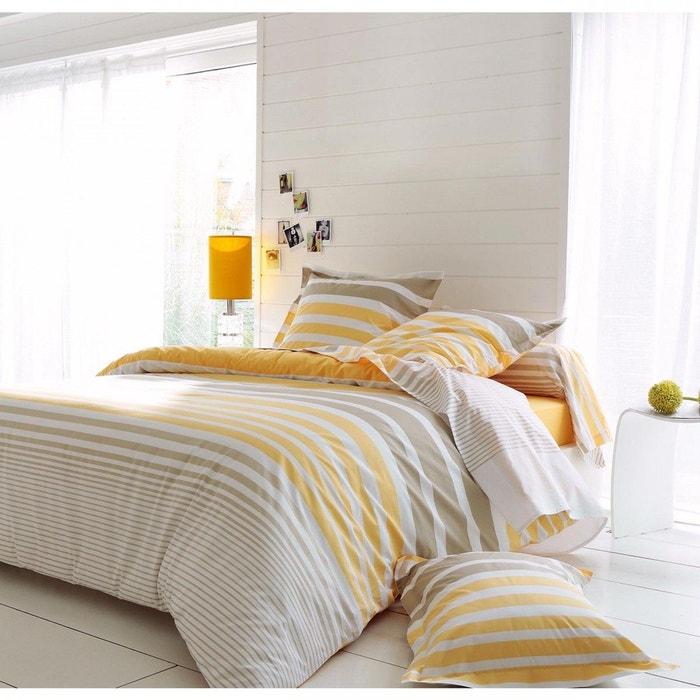 parure de lit stripe narcisse tradilinge jaune tradilinge la redoute. Black Bedroom Furniture Sets. Home Design Ideas