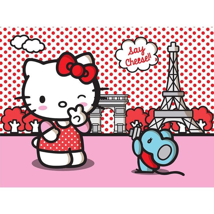 papier peint xxl hello kitty paris sanrio rose hello kitty la redoute. Black Bedroom Furniture Sets. Home Design Ideas