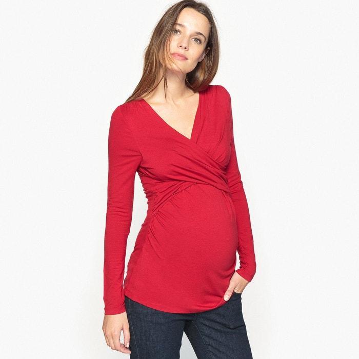 Tee shirt cache cœur de grossesse et allaitement La Redoute Collections