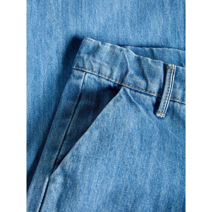 jean raccourcie évasée bleu-medium blue denim name it | la redoute