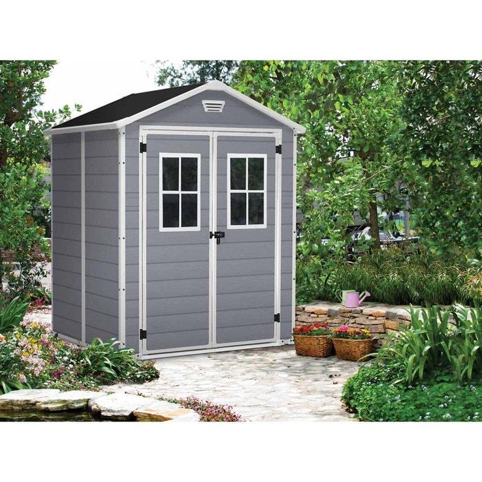 abri de jardin pvc premium 65 gris 2 8 m couleur unique keter la redoute. Black Bedroom Furniture Sets. Home Design Ideas