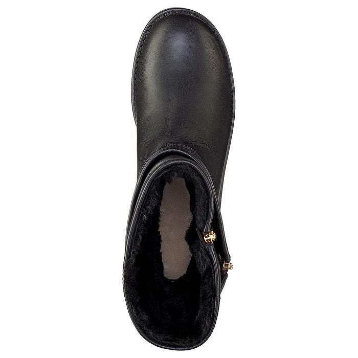 Boots cuir aviva noir Ugg