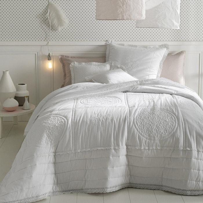 Image Couvre-lit matelassé et brodé en coton, OYENA La Redoute Interieurs