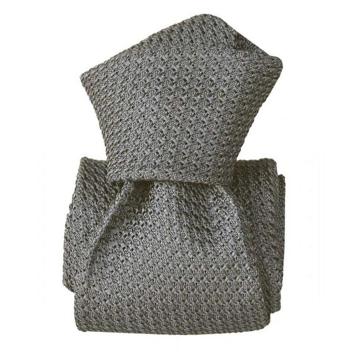 Cravate grenadine de soie, segni & disegni, beverly gris gris Segni Et Disegni | La Redoute