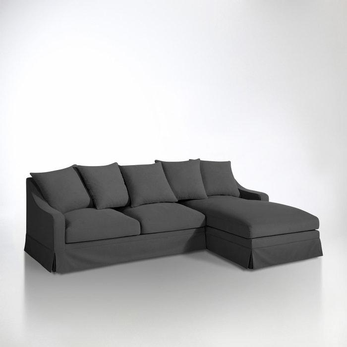 Image Canapé d'angle coton 1/2 natté, convertible confort excellence, Evender La Redoute Interieurs