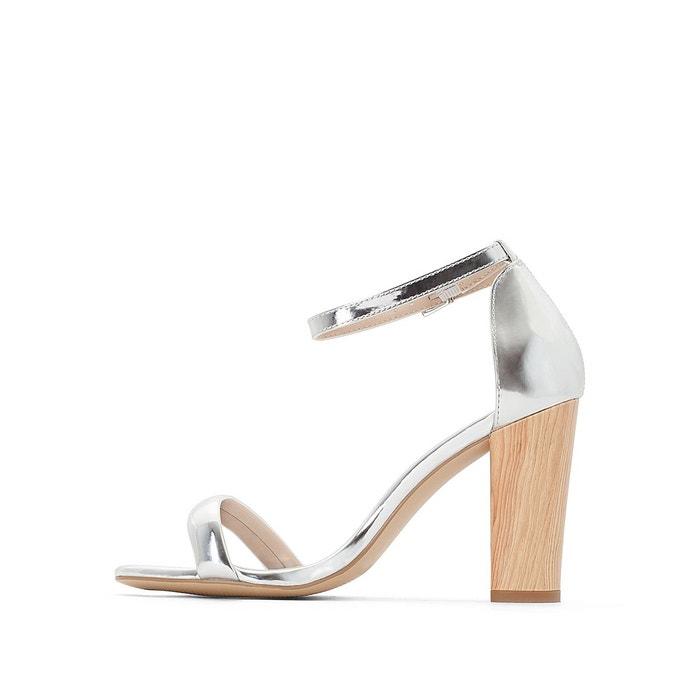 Sandales synthétique gris miroir La Redoute Collections