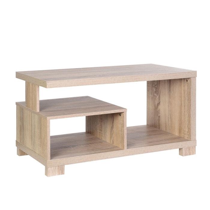 table basse bivoak mdf marron atmosphera la redoute. Black Bedroom Furniture Sets. Home Design Ideas