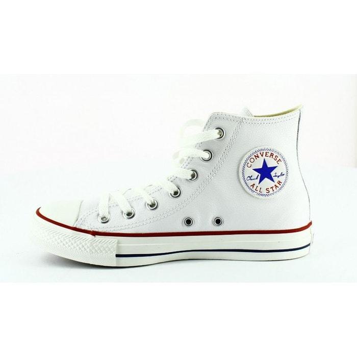 Converse all star leather hi  blanc Converse  La Redoute