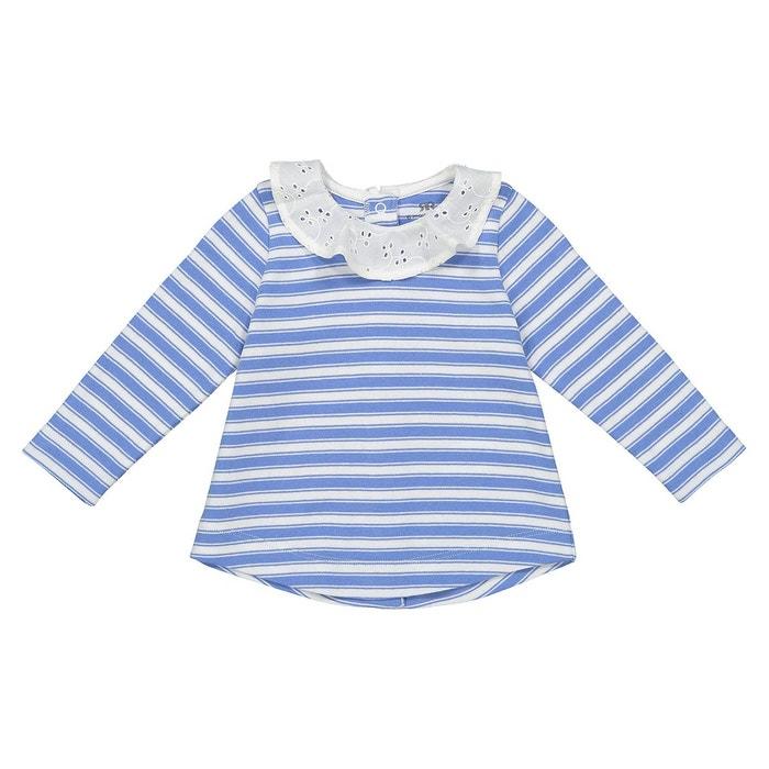 T-shirt rayé à col 0 mois - 3 ans bleu-blanc La Redoute Collections ... 73bd640bc2f