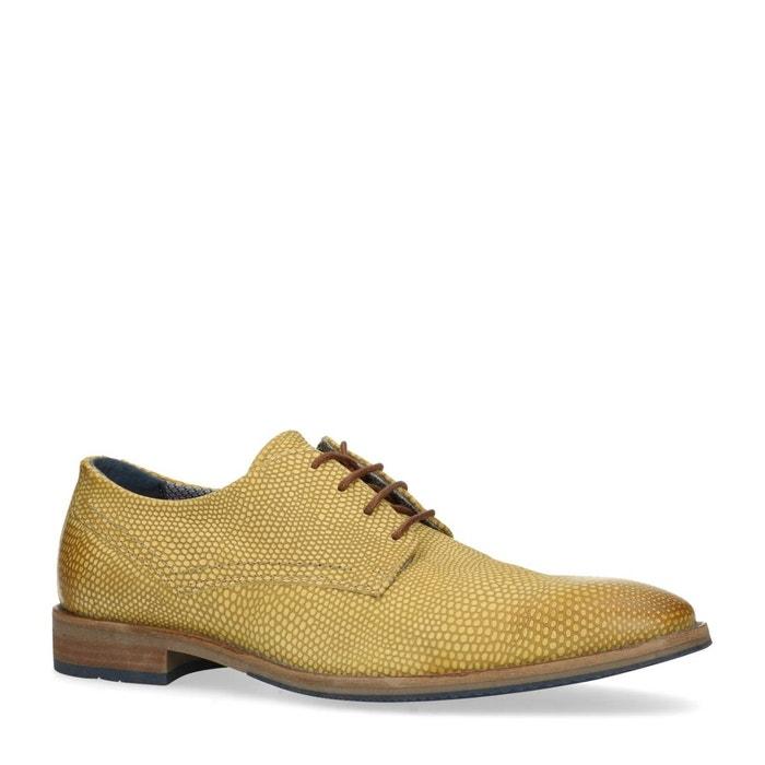 low priced c5e08 8ba53 Chaussures à lacets avec motif peau de serpent jaune Sacha La Redoute  GH8HUA1Z - destrainspourtous.fr