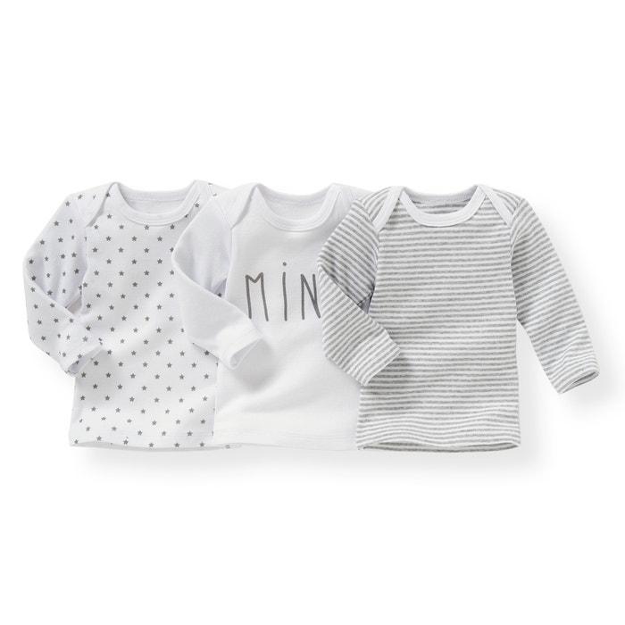 Image Pack of 3 Organic Cotton T-Shirts, Birth - 3 Years R essentiel