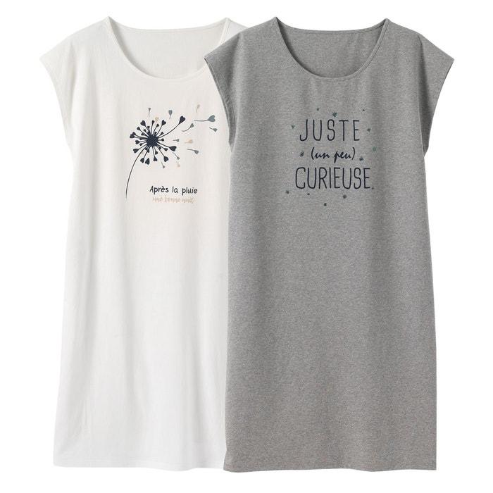 Chemises de nuit imprimées, lot de 2, R Edition