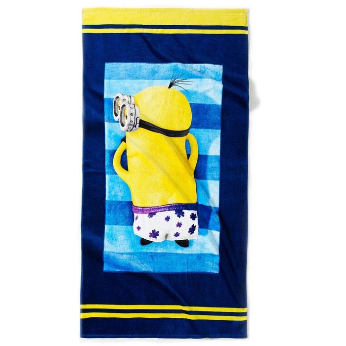 serviette de plage enfant les minions 320g m bleu jaune les minions la redoute. Black Bedroom Furniture Sets. Home Design Ideas