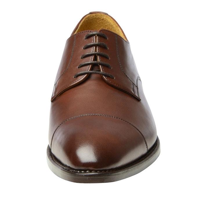 Derby captoe en marron marron foncé Shoepassion