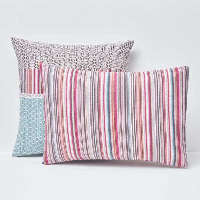 Image Metismix Printed Flannel Pillowcase La Redoute Interieurs
