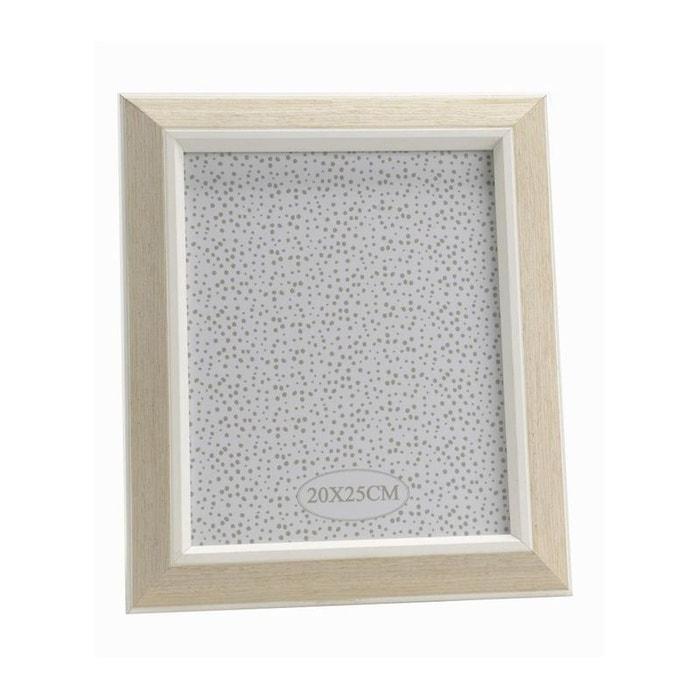 cadre photo effet bois naturel et blanc 27x32cm bois blanc et naturel pier import la redoute. Black Bedroom Furniture Sets. Home Design Ideas